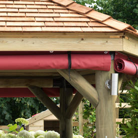 Hexagonal Gazebo Garden Curtains