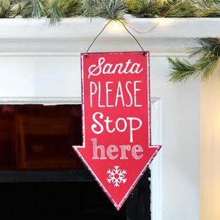 Vintage Style Santa Stop Signs