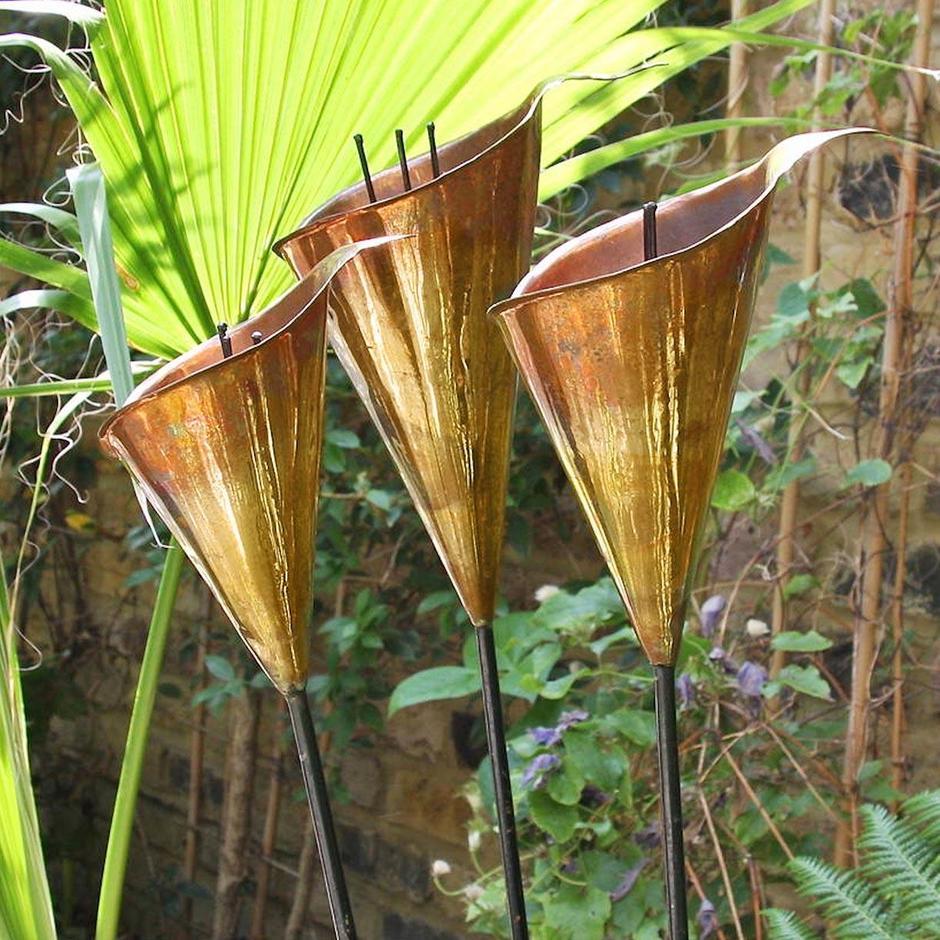 Copper Arum Lily Sculptures