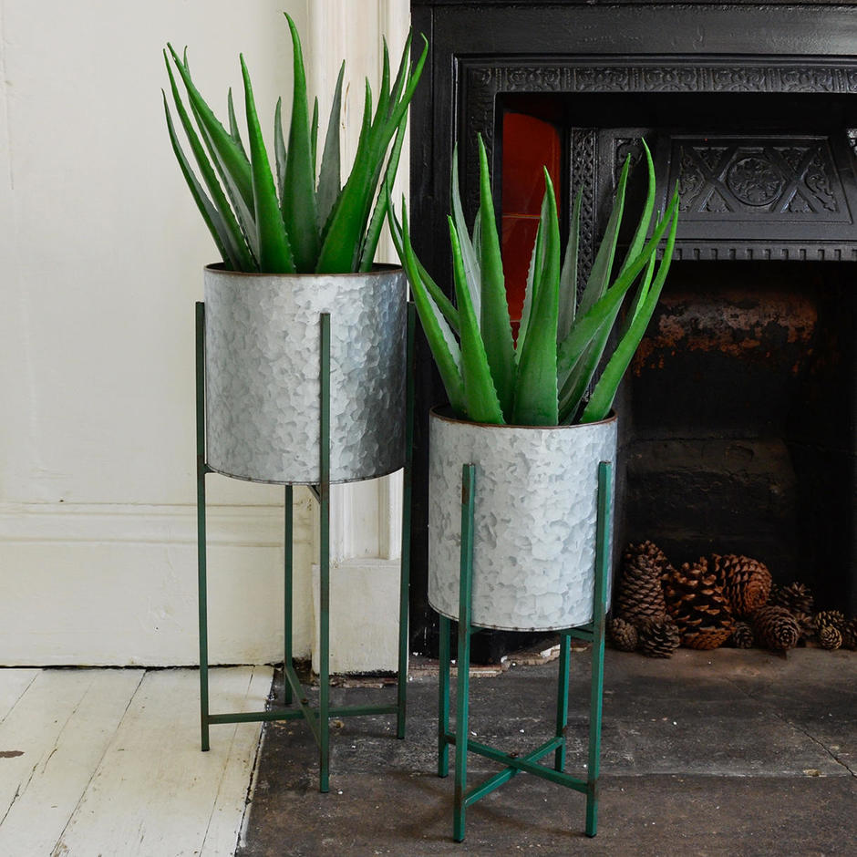 Giverny Zinc Plant Stands