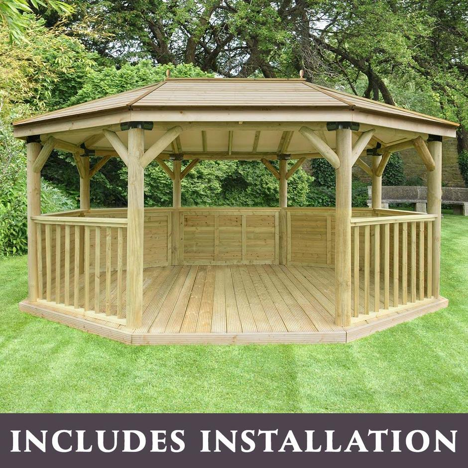 Timber Roofed Oval Gazebos