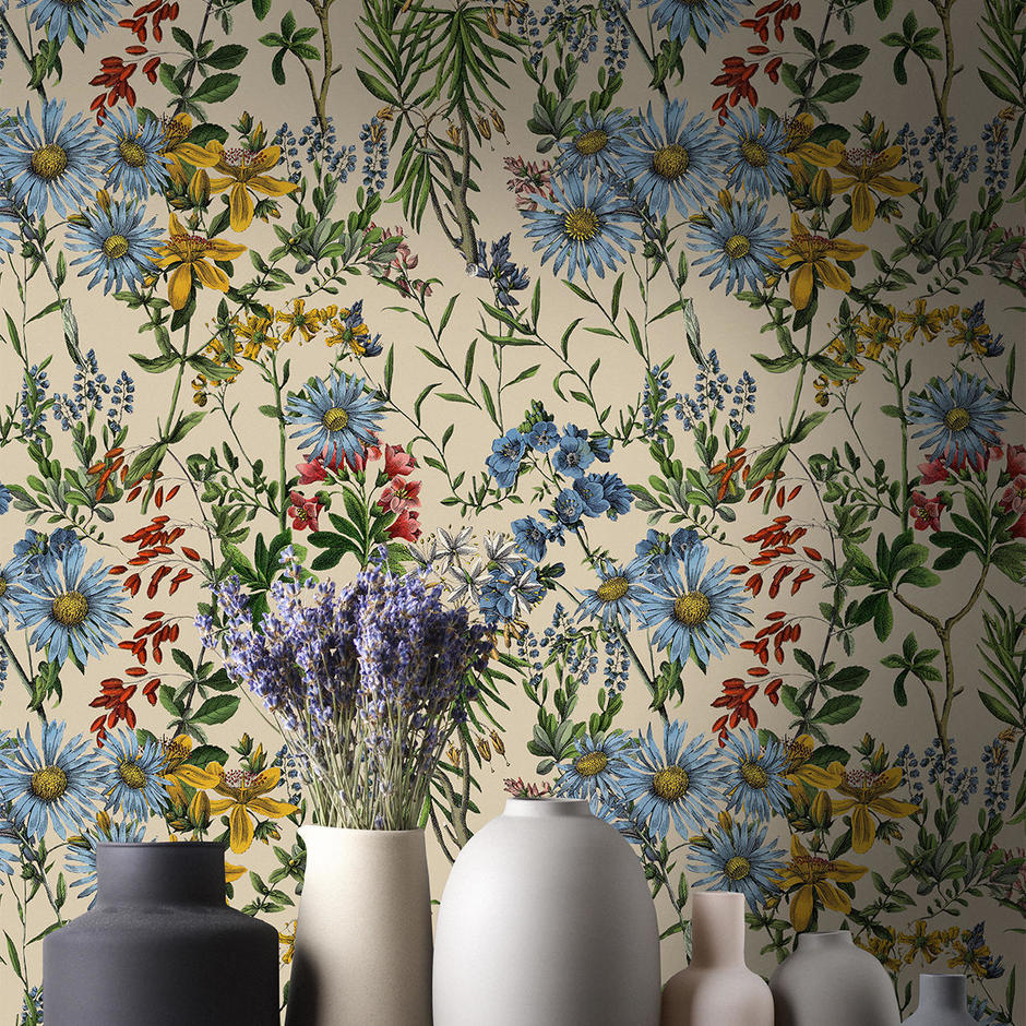 Summerish Taupe Feature Wallcovering