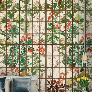Japanese Garden Feature Wallcovering