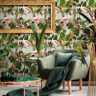 Beverly Hills Mint Feature Wallcovering