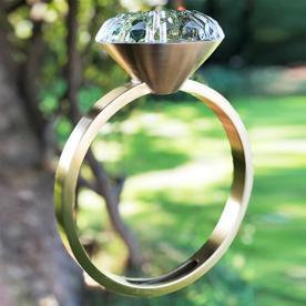 Solitaire Diamond Ring Birdfeeder