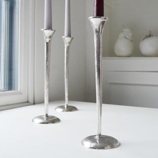 Aluminium Fluted Candlestick