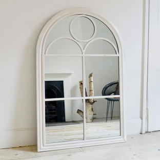 Vintage Style Framed Outdoor Arched Mirror