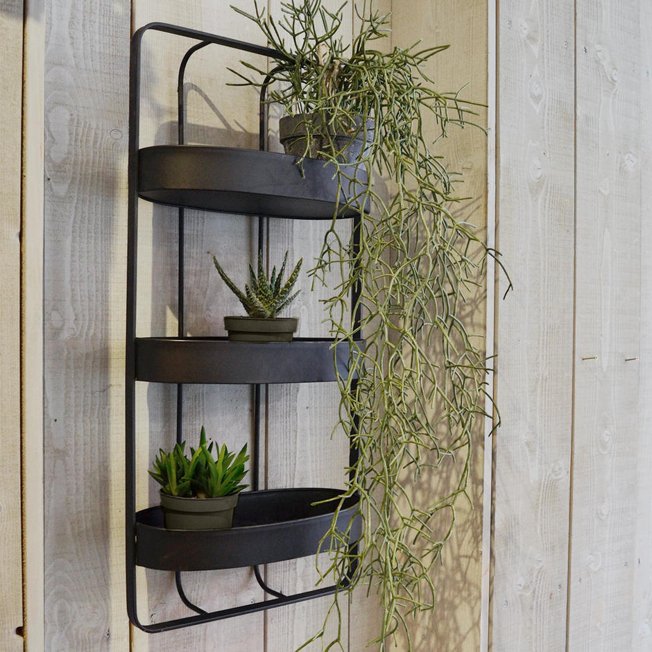 Iron Triple Shelf  Wall Unit