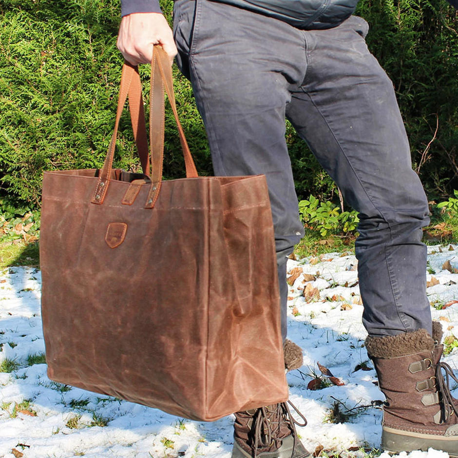 Large Waxed Canvas East West Bags