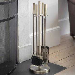 Slender Brass Finish Companion Set