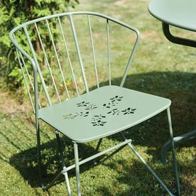 Flower Chairs with Patterned Seat