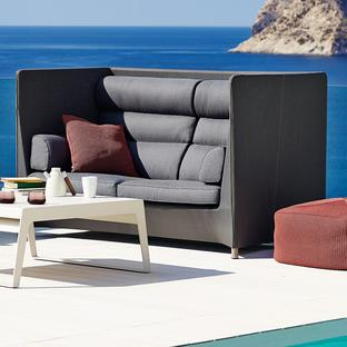 Diamond Highback Outdoor Lounge Sofa