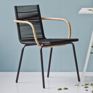 Sidd Indoor Dining Chair with Arms