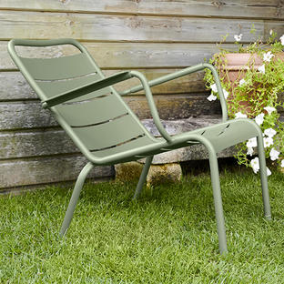 Luxembourg Steel Low Armchair