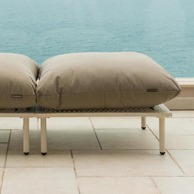 Beach Modular Outdoor Lounge Footstool