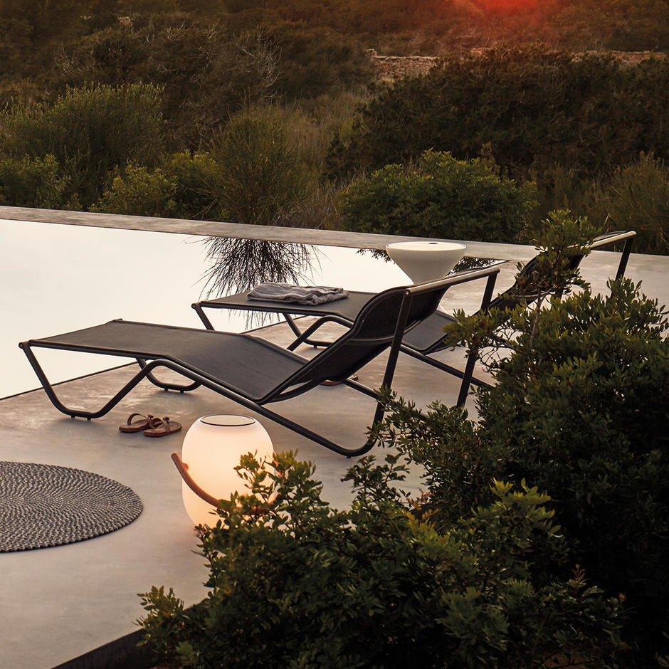 Helio Sun Loungers with Fixed Back