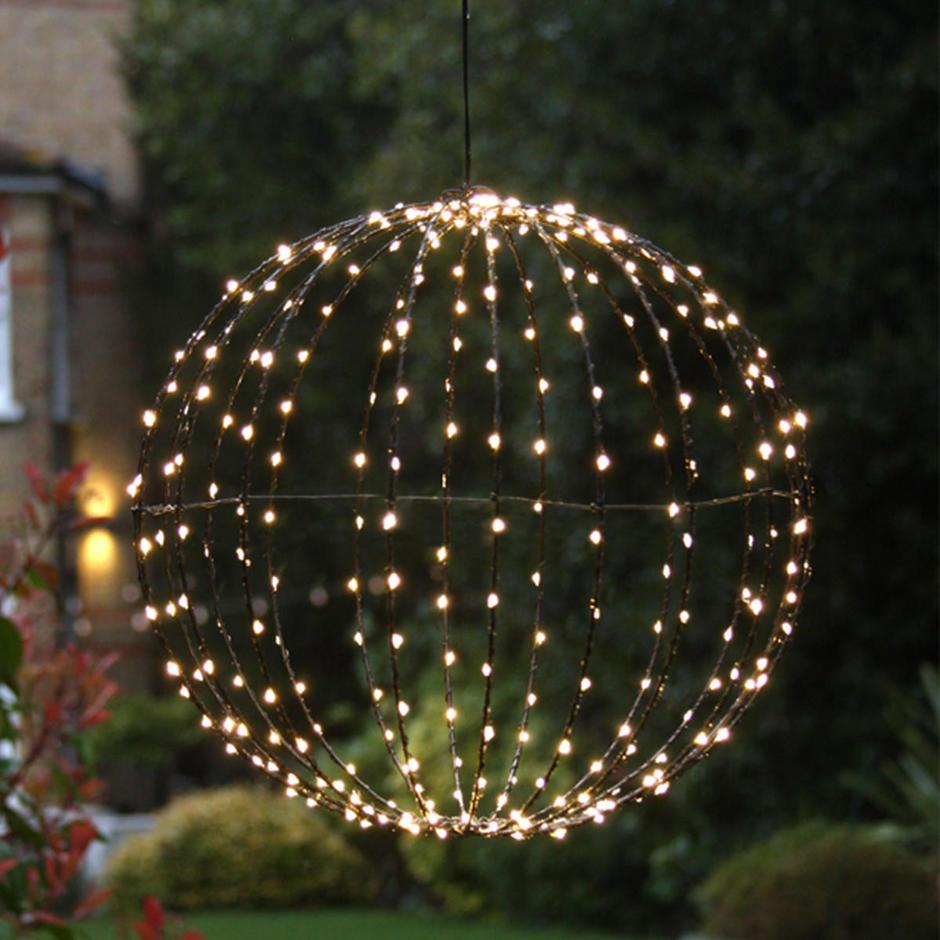 Outdoor LED Illuminated Decorative Spheres