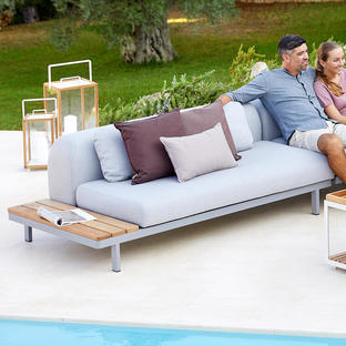 Space 2 Seater Module with Teak Table - Right