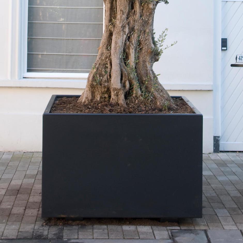 Aluminum Box Cubed Garden Planters