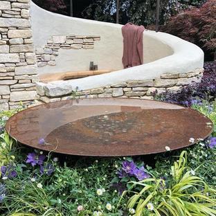 Reflective Water Pools - Corten Steel