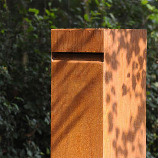 Metal Pillar Letter Boxes with Front Slot