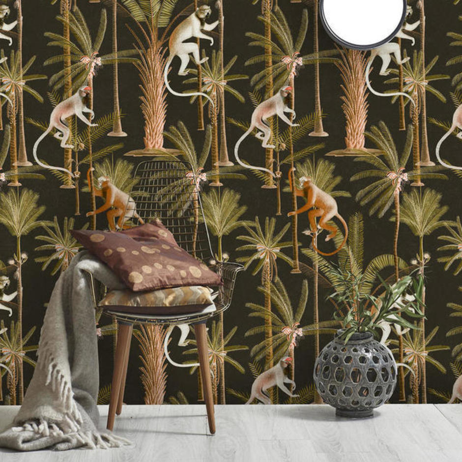 Barbados Anthracite Feature Wallcovering