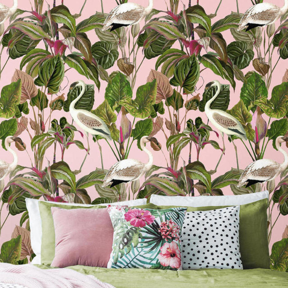 Beverly Hills Pink Feature Wallcovering