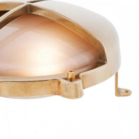 Round Bulkhead Lights with Split Shade and External Fixing Legs
