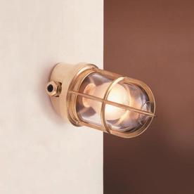 Grille Bulkhead Angled Lamp