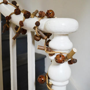 Sleigh Bell and Twig Garland