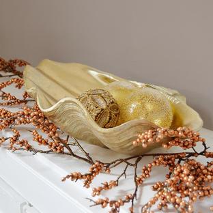 Gold Decorative Clam Shell Dish