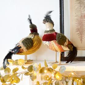 Baroque Partridge Birds - Set of 2