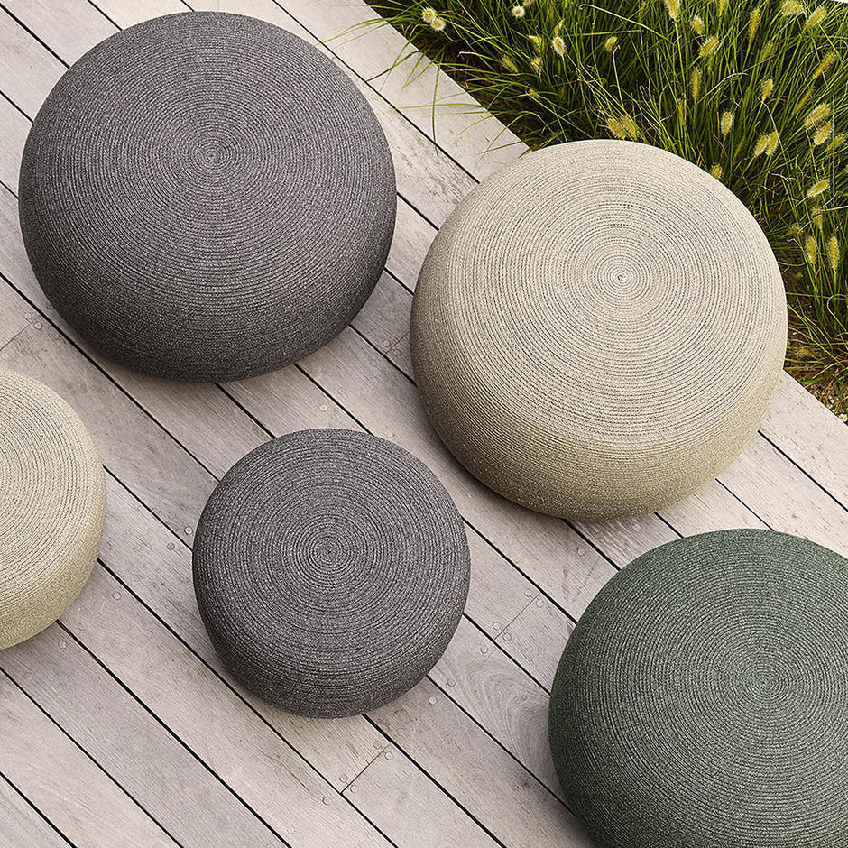 Circle Outdoor Footstool