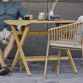 Flip Teak Folding Dining Table