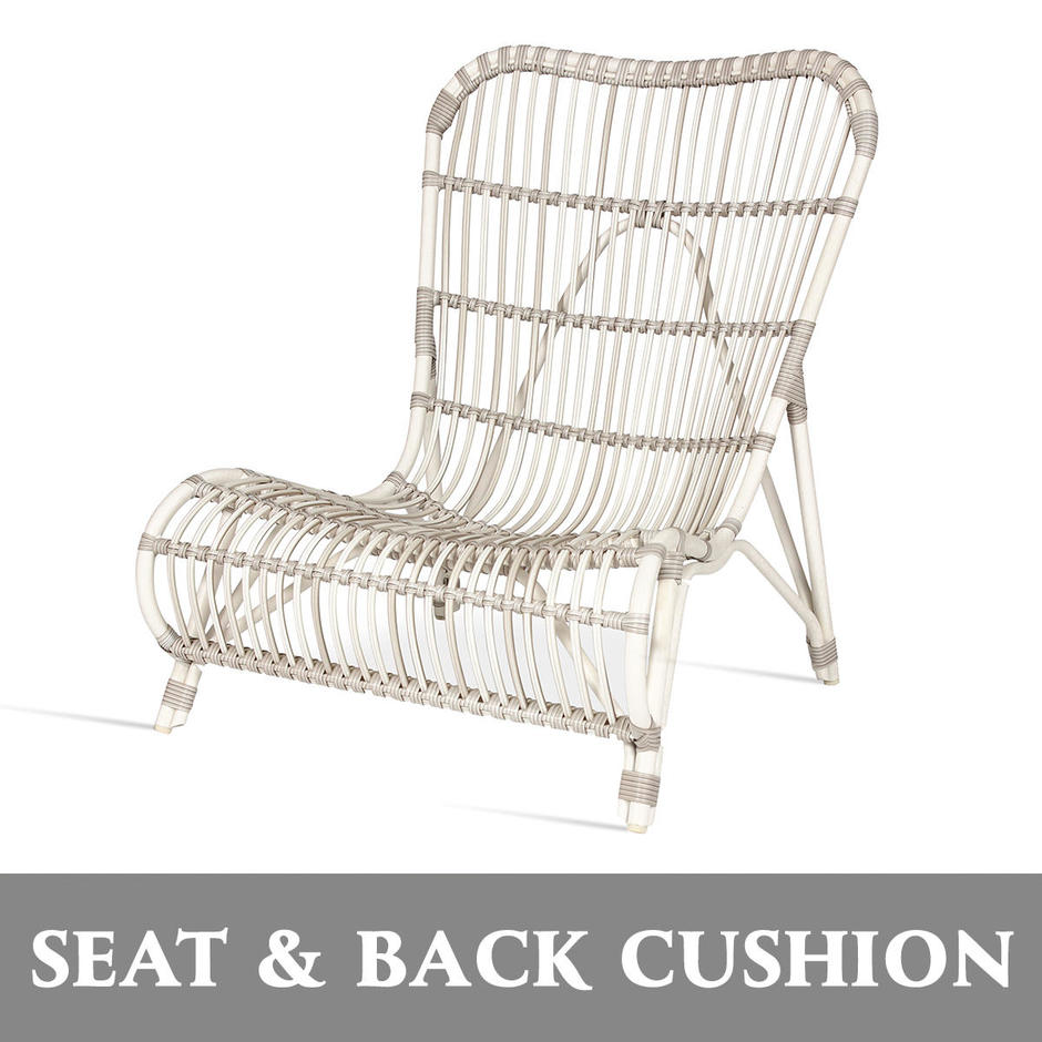 Lucy Outdoor Lounge Seat and Back Cushion