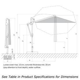 Sunwing Casa Easy Rectangular Cantilever Parasol