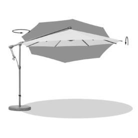 Sunwing Casa Deluxe Bespoke Round Cantilever Parasols