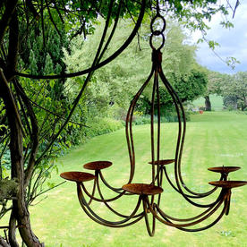 Rusted Tudor Style Chandelier
