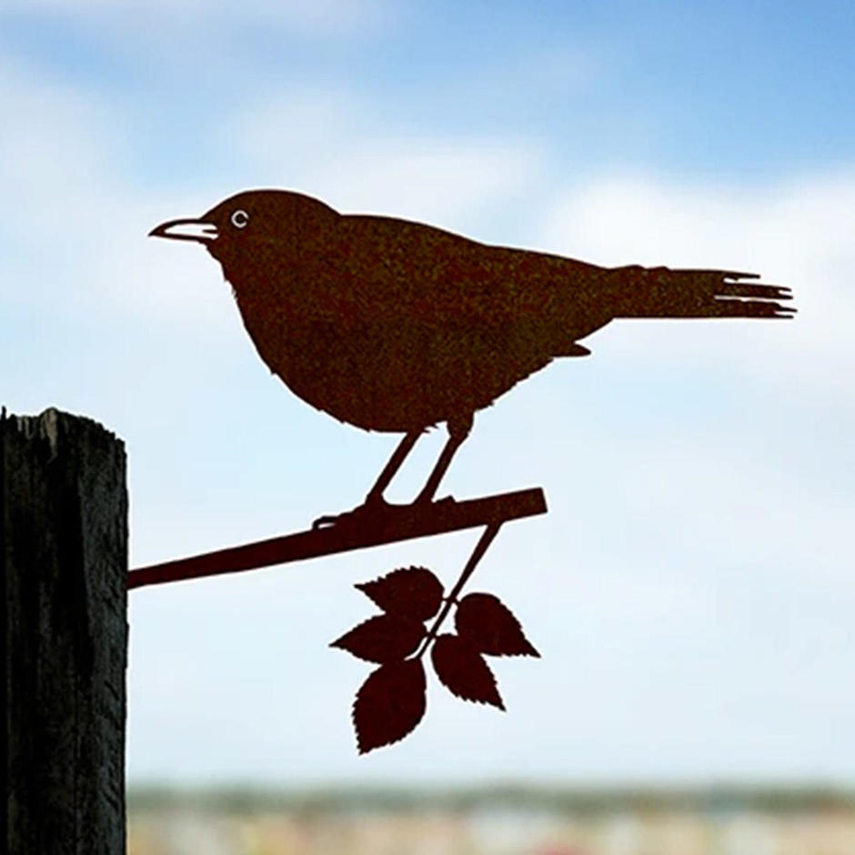 Metalbird Blackbird Silhouette