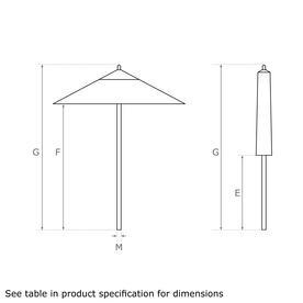 Classic Wood Framed 2.2m Square Parasols