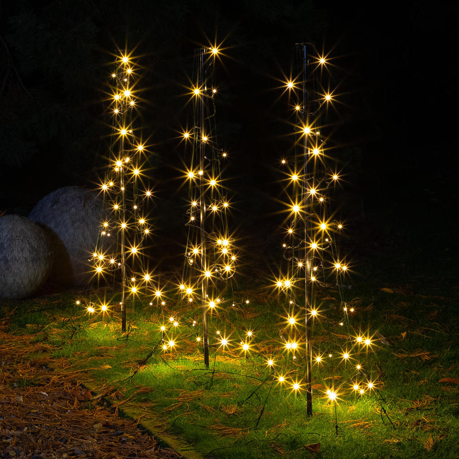 Illuminated LED Path Light Trees
