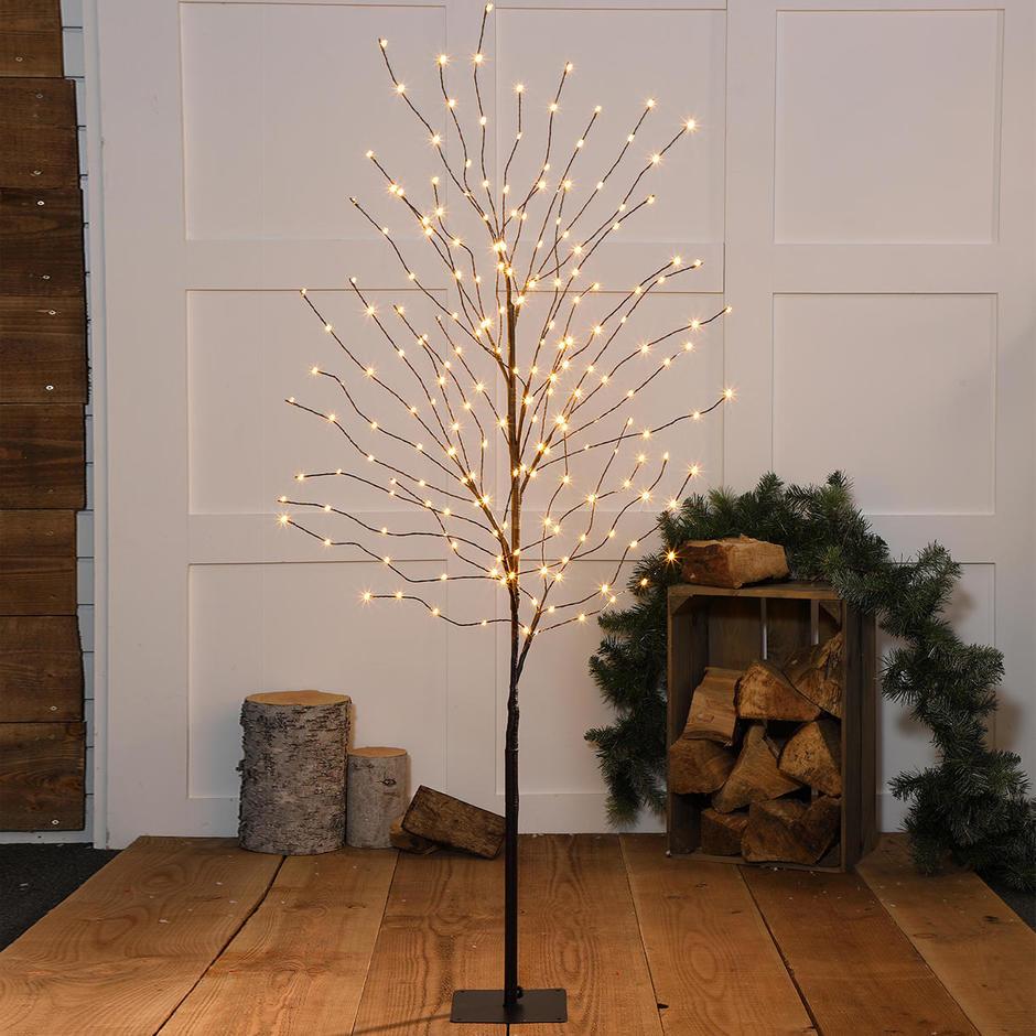 Indoor Outdoor LED Wispy Wire Tree