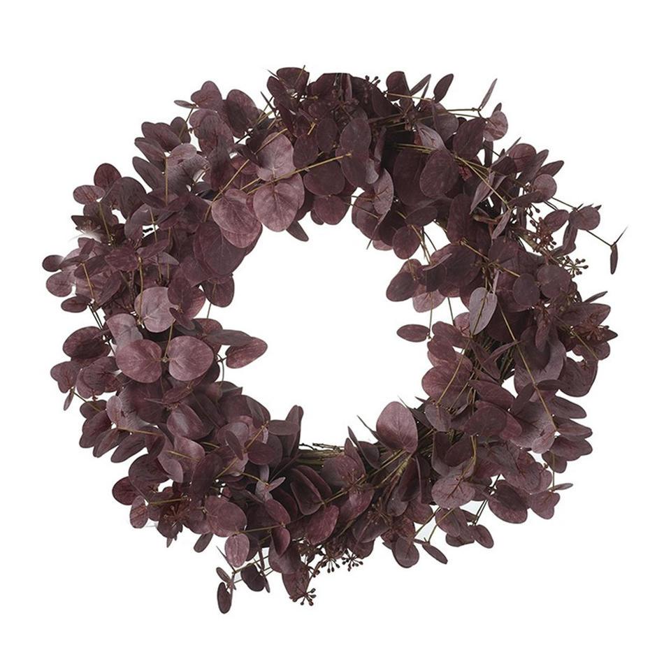Mulberry Red Eucalyptus Wreath