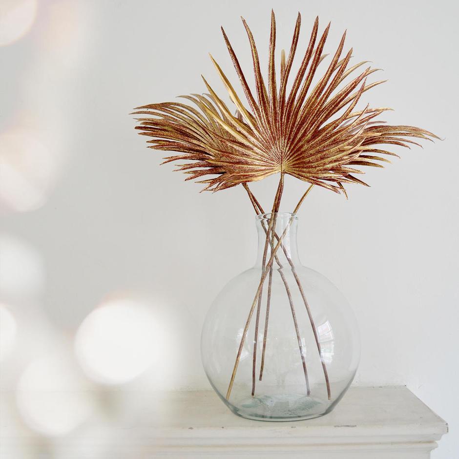 Art Deco Glittered Palm Leaves