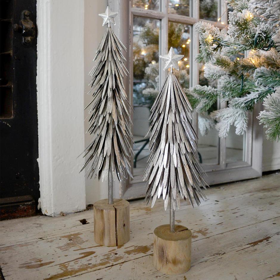 Silver Metal Christmas Trees