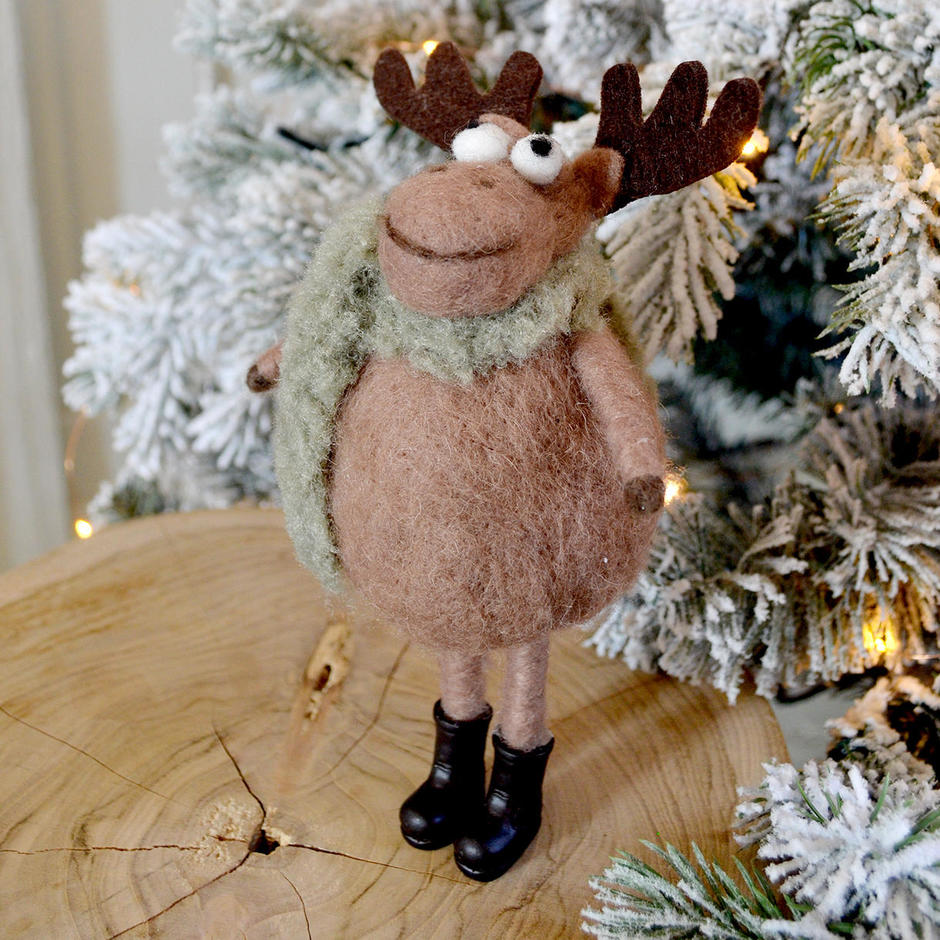 Marvin Moose Felt Decoration
