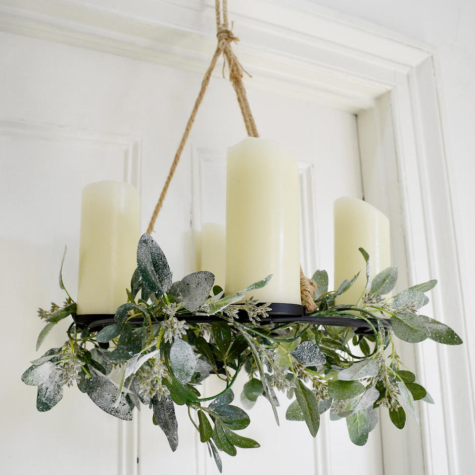 Rustic Hanging Candle Holder