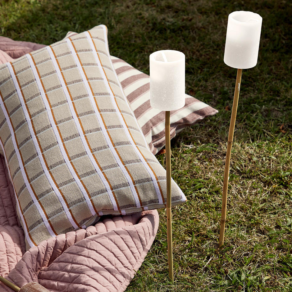 Pair of Outdoor Candle Bamboo Torches