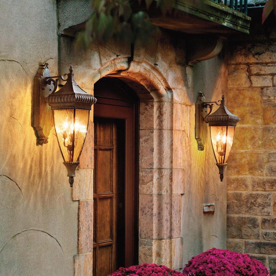 Venetian Rain Outdoor Down Wall Lanterns