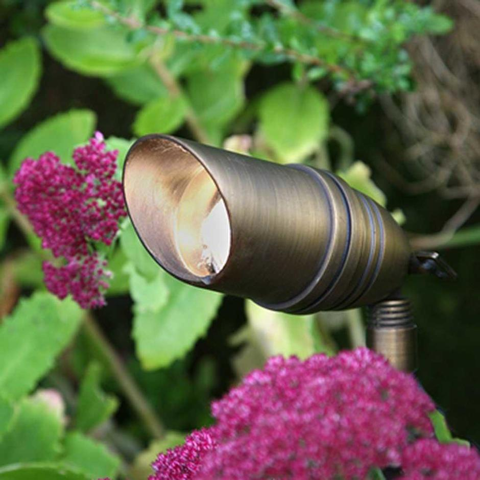 Garden Zone Bronze Plug & Go Spotlights with Spike